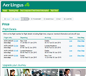 Aer Lingus Website