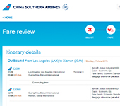 China Southern Airlines Website