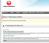 Japan Airlines Website