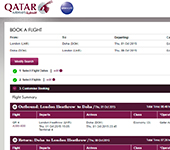 Qatar Airways Website