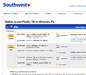 Southwest Website