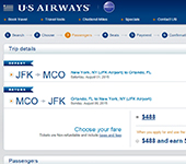 US Airways Website