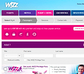 Wizz Air Website