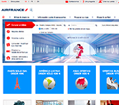 captura de pantalla de Air France