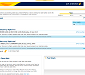 captura de pantalla de Jet Airways