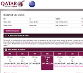 captura de pantalla de Qatar Airways