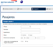 Web de British Airways