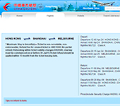 Web de China Eastern Airlines