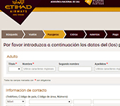 Web de Etihad Airways