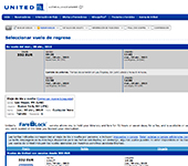 Web de United Airlines