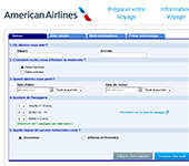 capture d'écran de American Airlines