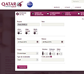capture d'écran de Qatar Airways