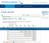 Site de CROATIA AIRLINES