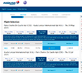 Site de MALAYSIA AIRLINES