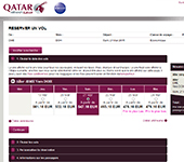 Site de Qatar Airways