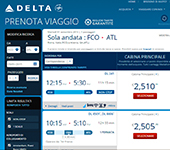 screenshot di Delta Air Lines