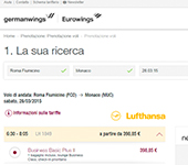 screenshot di Germanwings