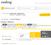 screenshot di Vueling