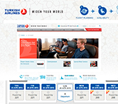Sito web di Turkish Airlines