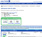 captura de pantalla de United Airlines
