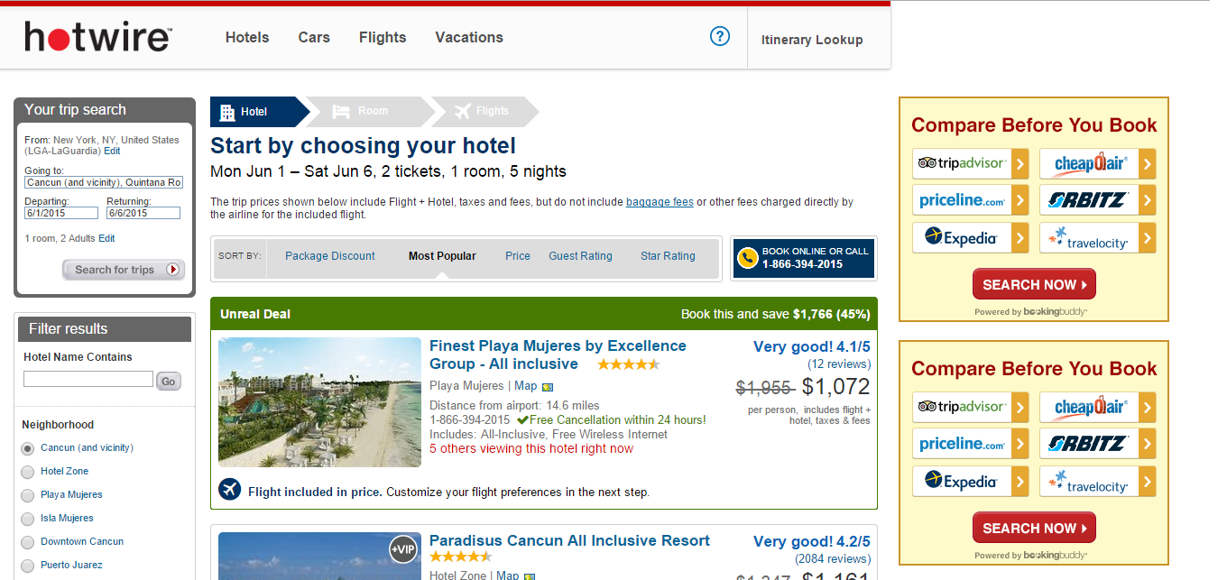 Hotwire: compare vacation websites and see reviews ...