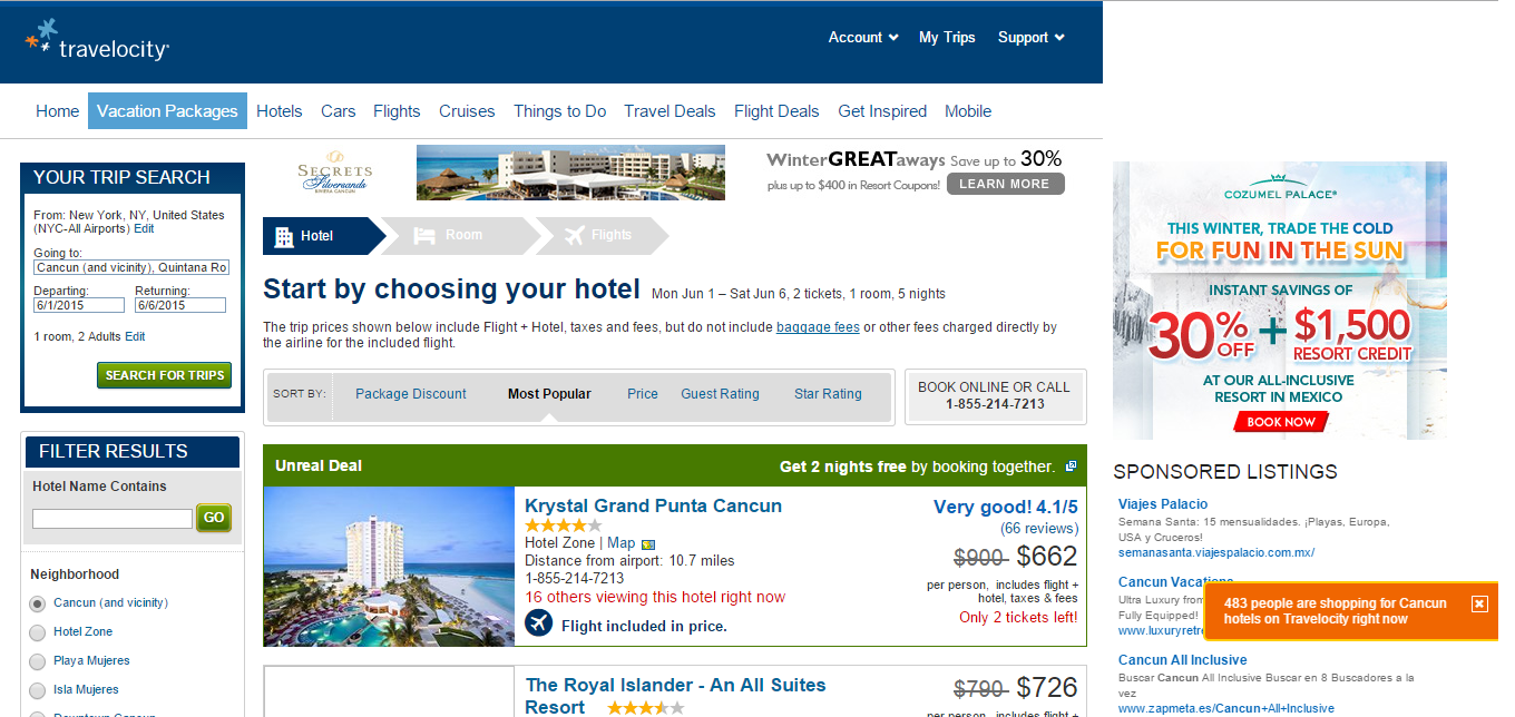 Travelocity Compare Vacation Websites And See Reviews