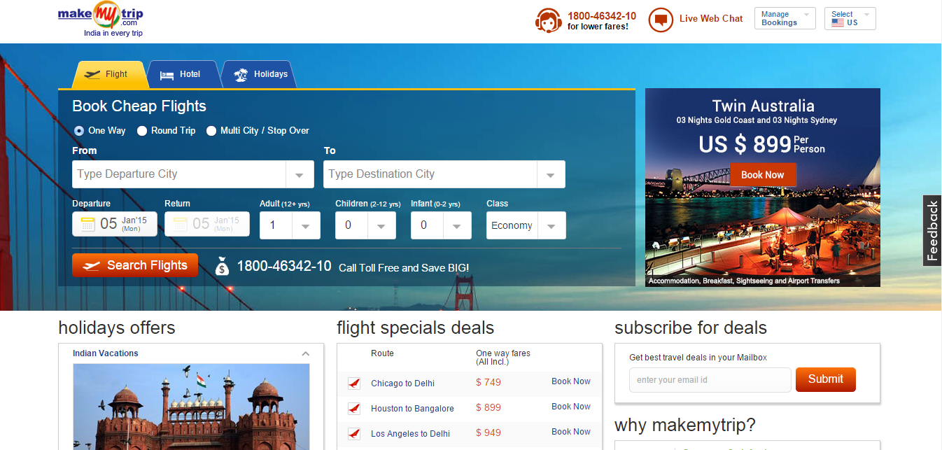 MakeMyTrip: hotel comparison and reviews - minube net