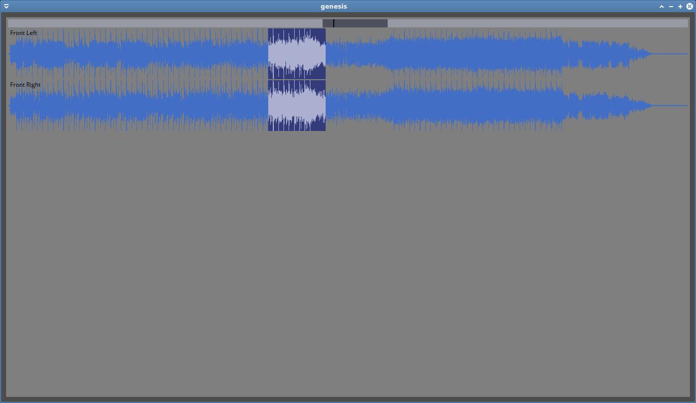 Opening an Audio File - Genesis Digital Audio Workstation