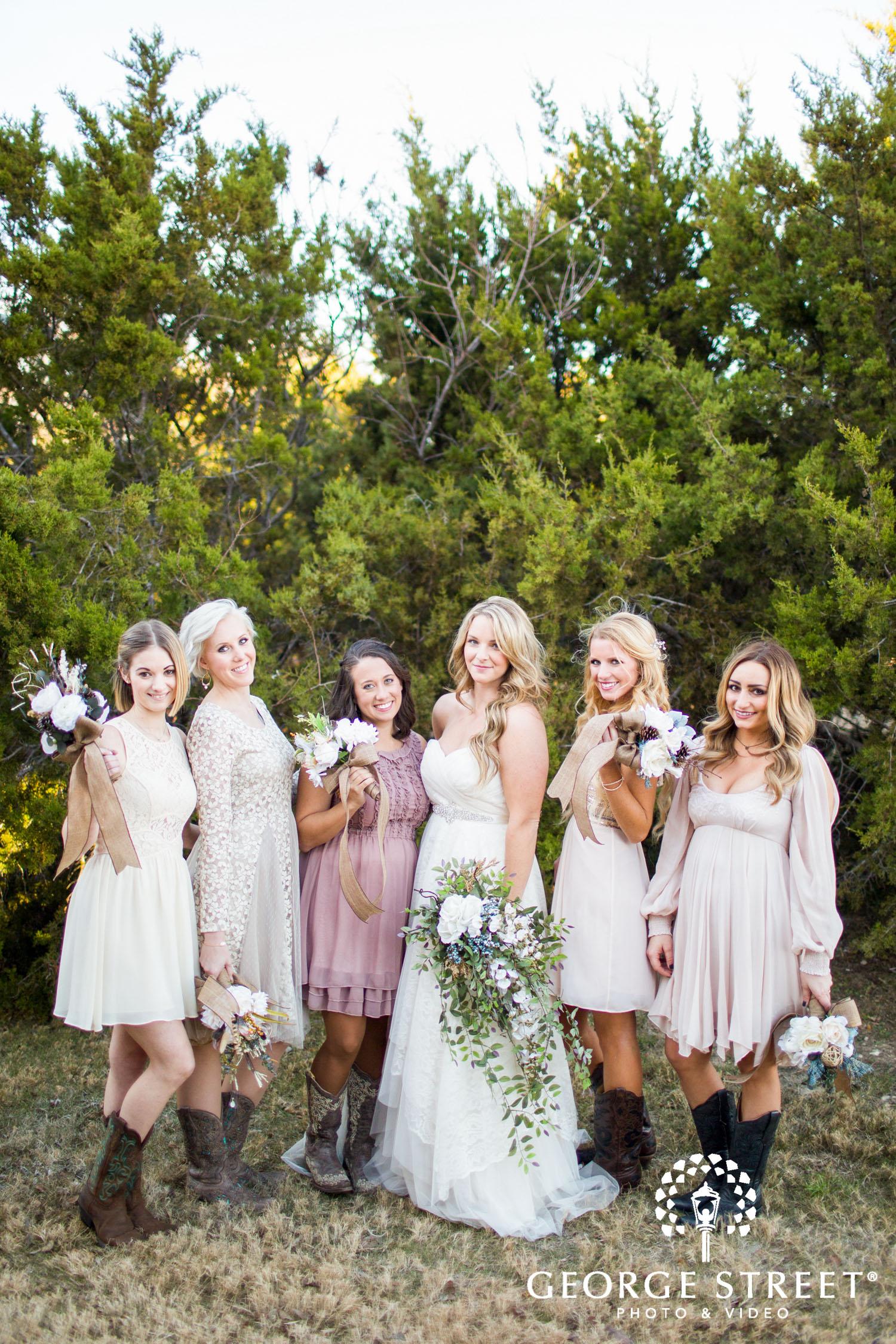 southern bridesmaids mismatched dresses