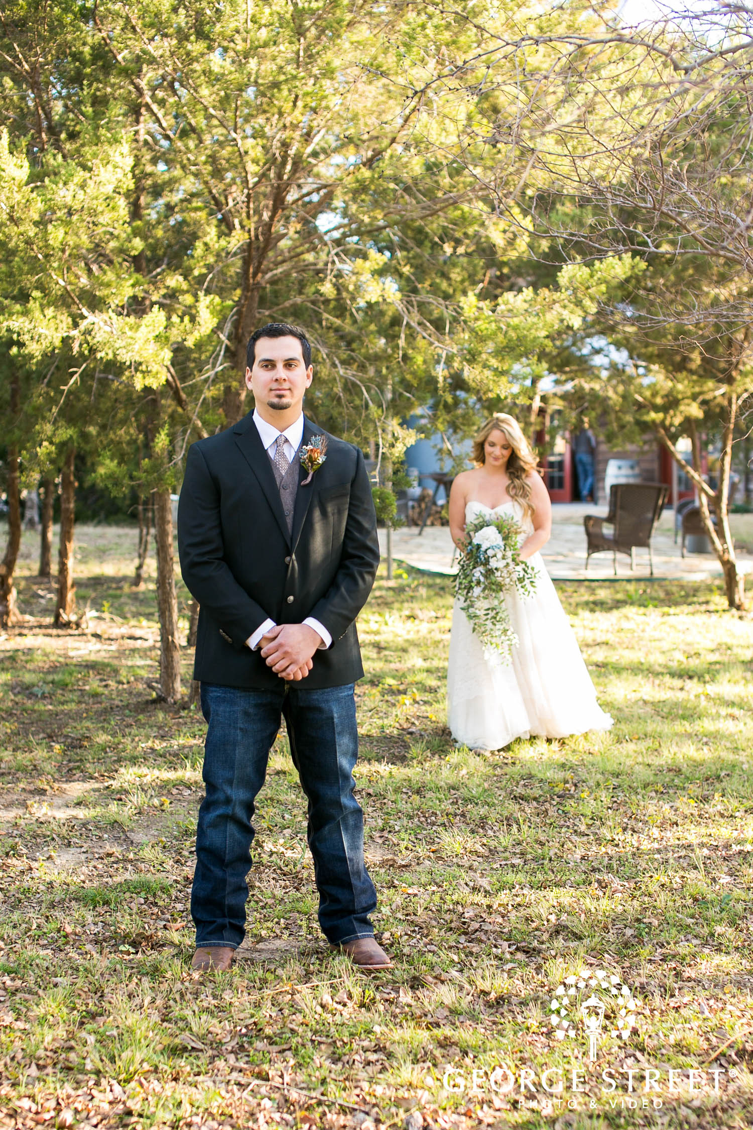 Dallas southern wedding first look