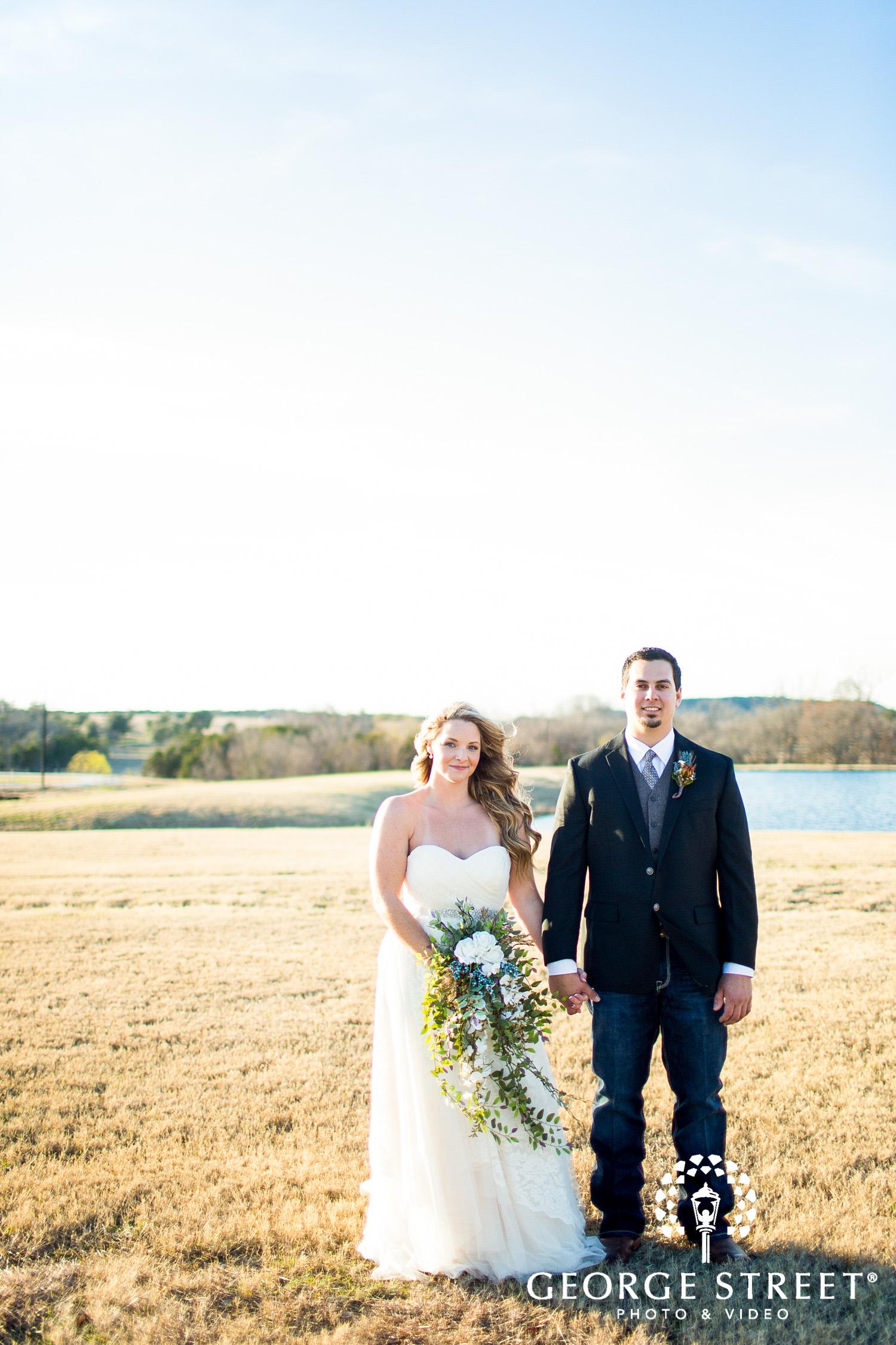 rustic southern wedding portrait