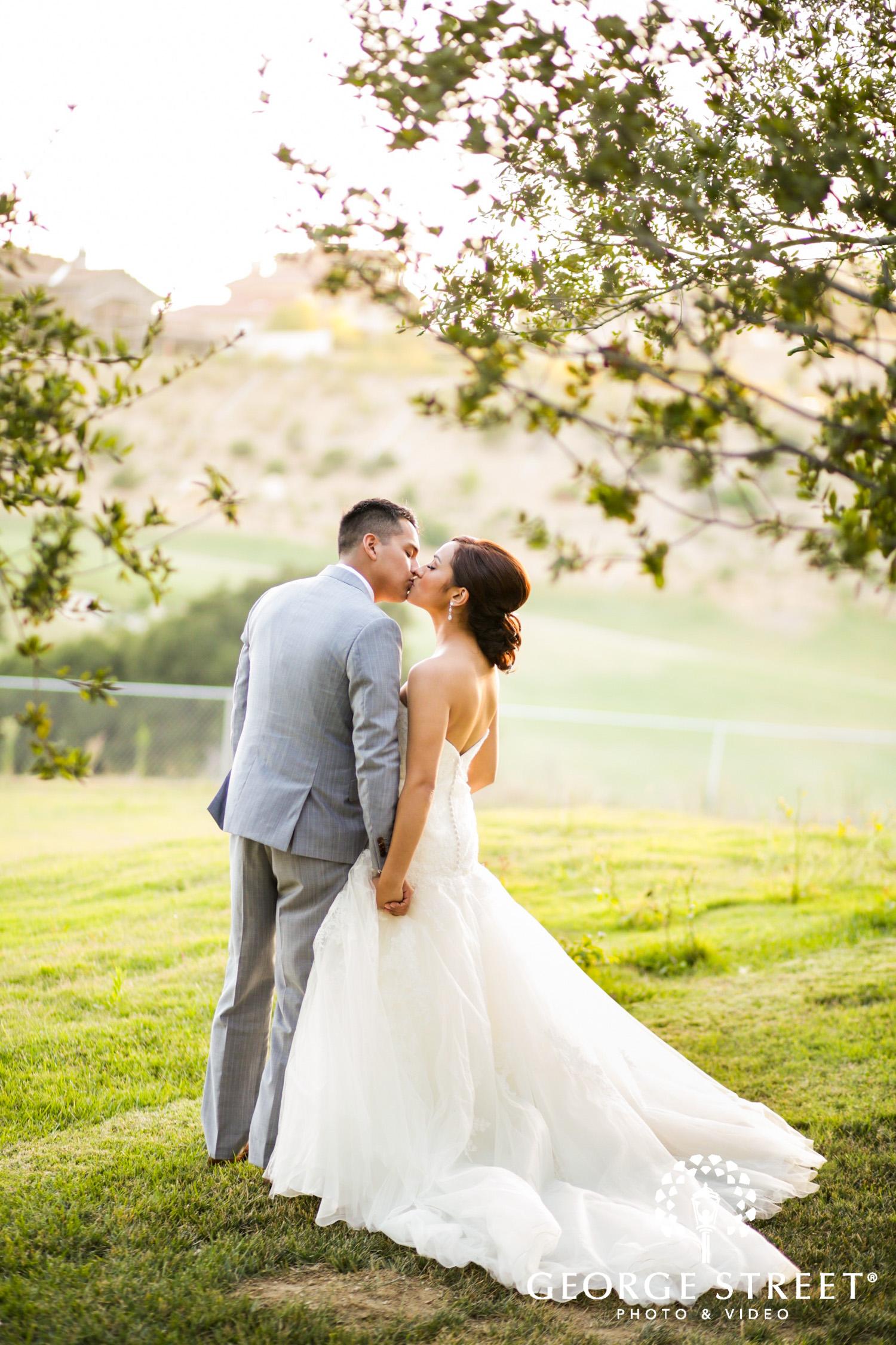 stunning sunset Los Angeles wedding photography