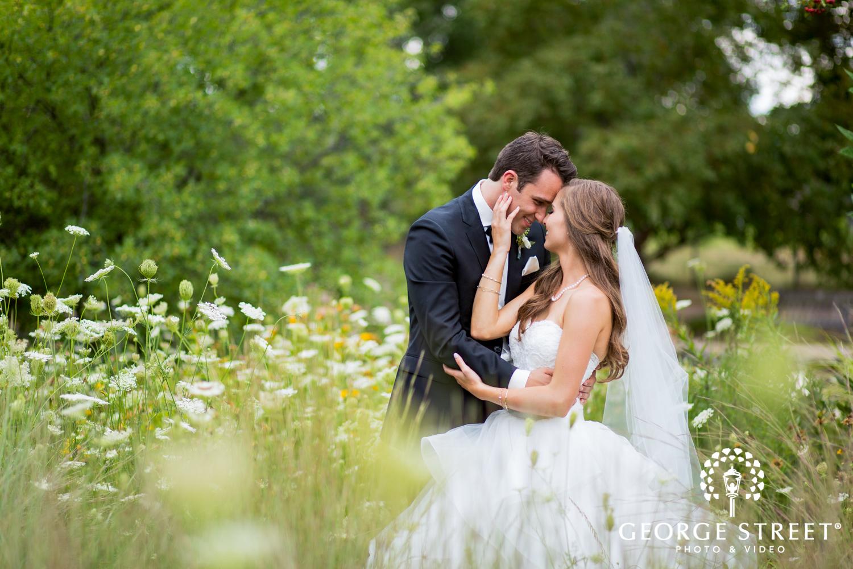 wildflower field wedding photos