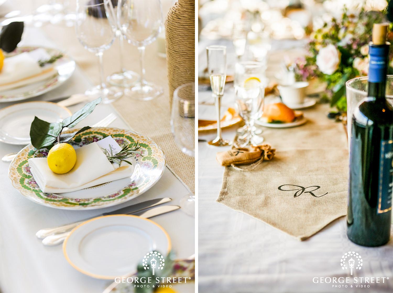 unique wedding reception table decorations