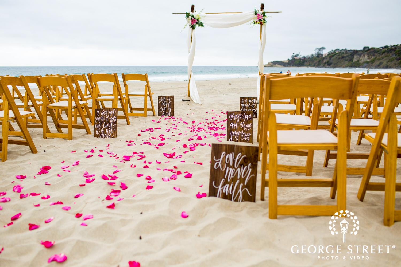 beach wedding sign aisle runner decor