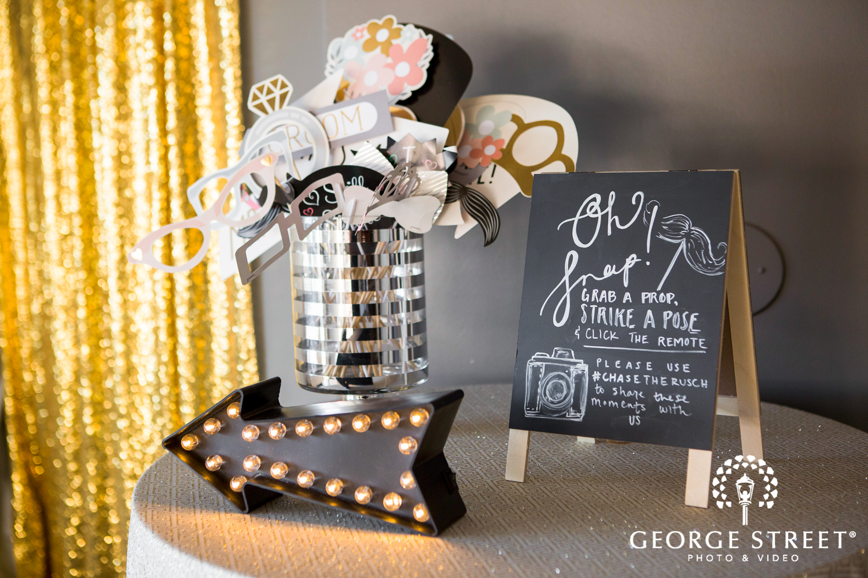 wedding decor photo booth props