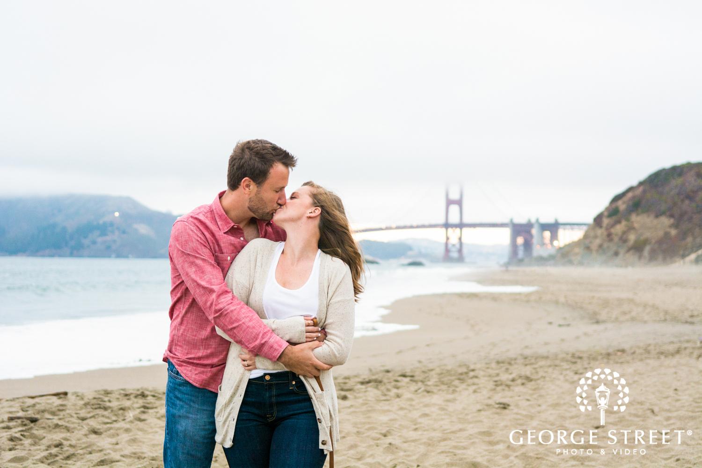 San Francisco golden gate bridge engagement photo