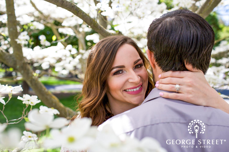 spring engagement photo