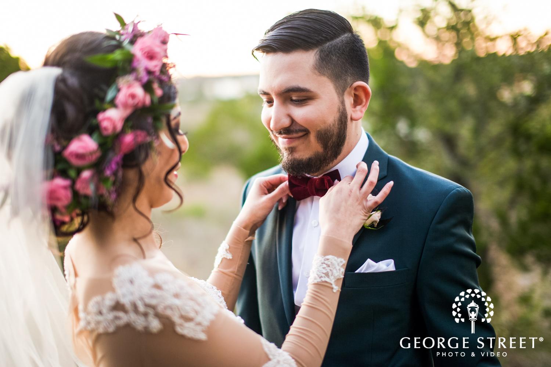 bride and groom bohemian wedding photos