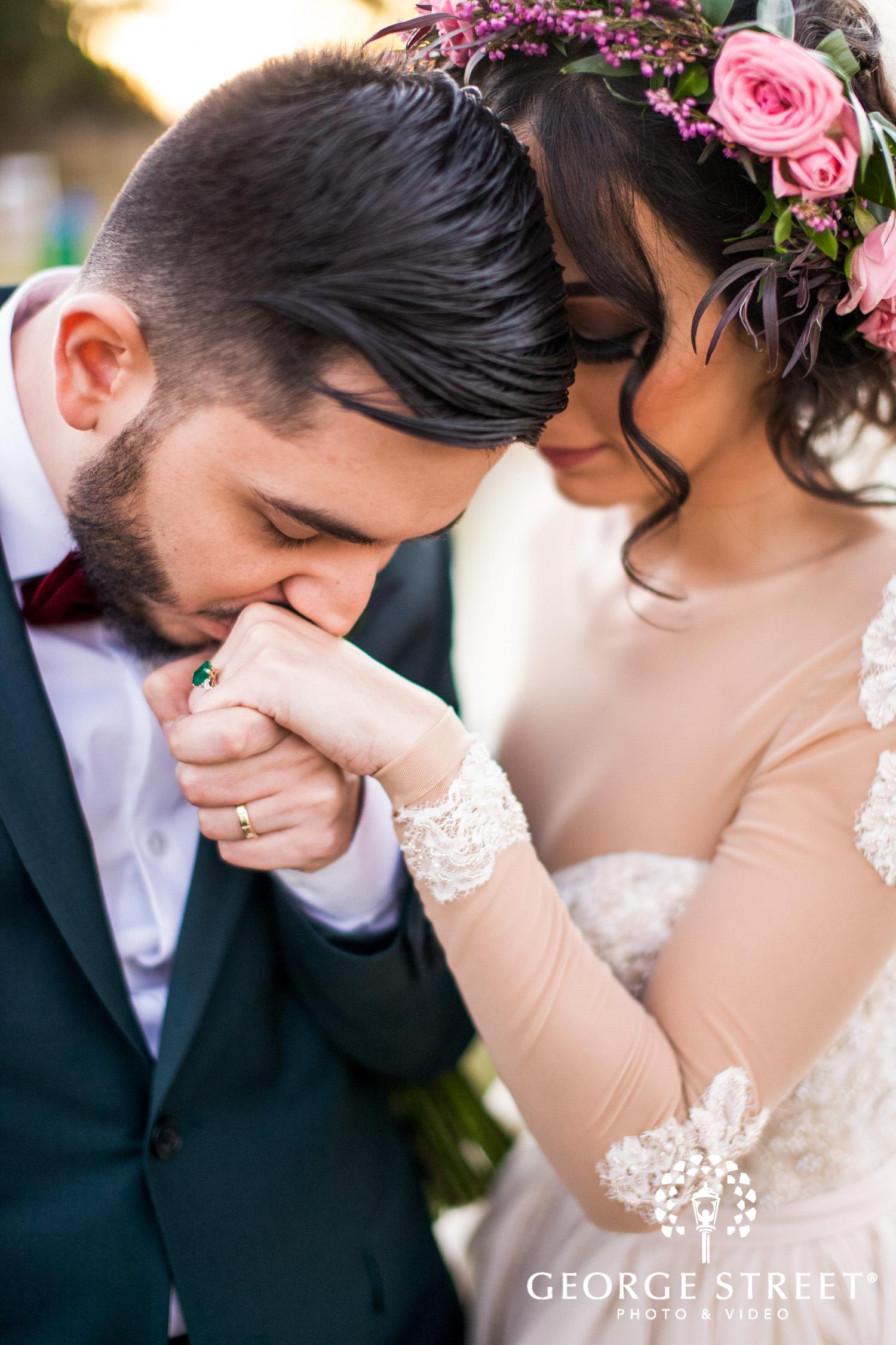 beautiful wedding portrait of bride and groom Austin