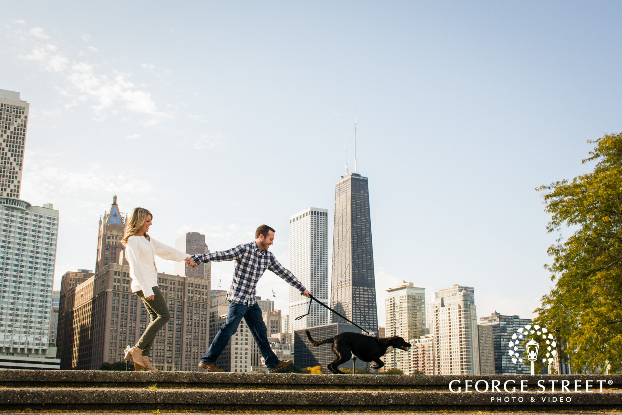 dogs in engagement photoshoots