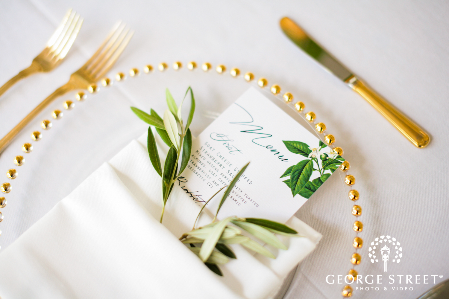 wedding reception table place settings