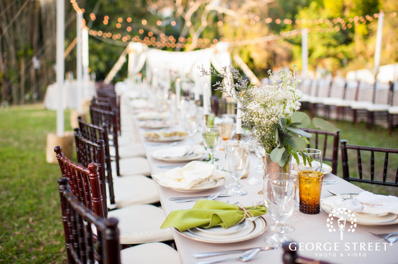 airy open wedding reception decor