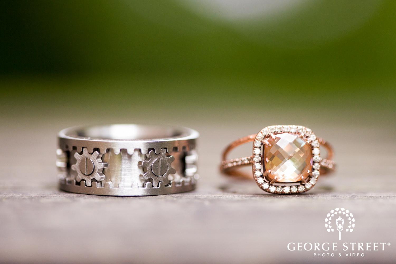 unique mechanical wedding ring