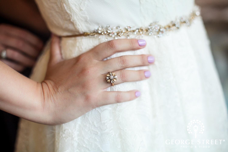 unique petite wedding ring