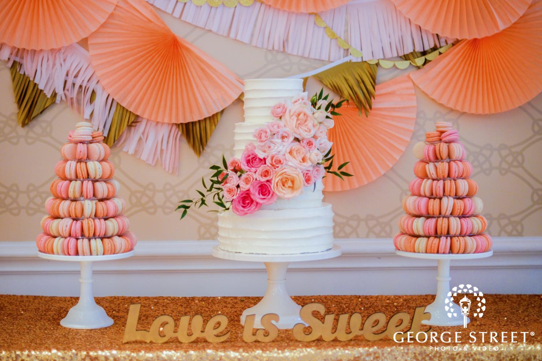 wedding cake macaroon towers