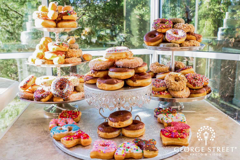 best day ever donut wedding dessert display