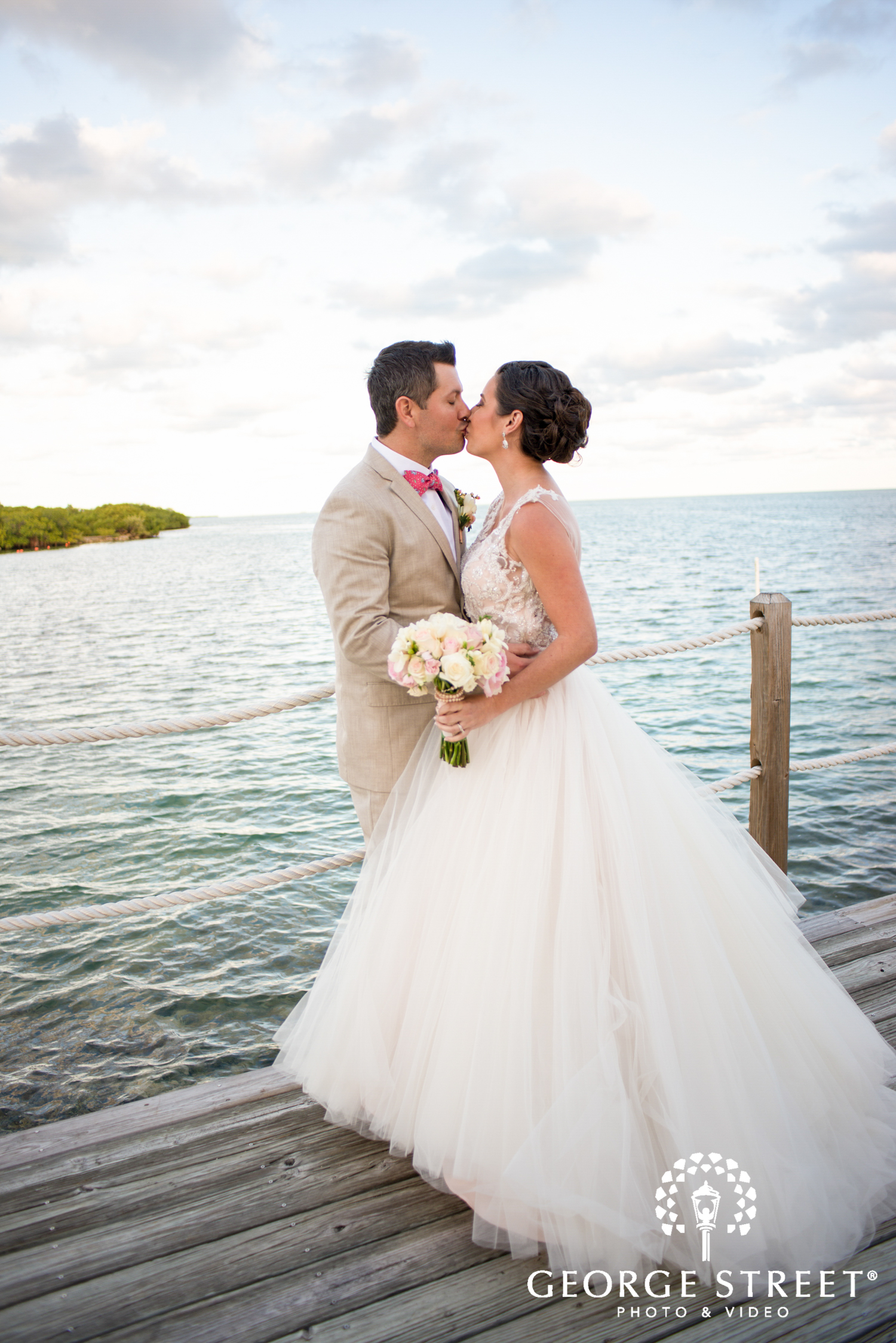 blush ballgown wedding dress