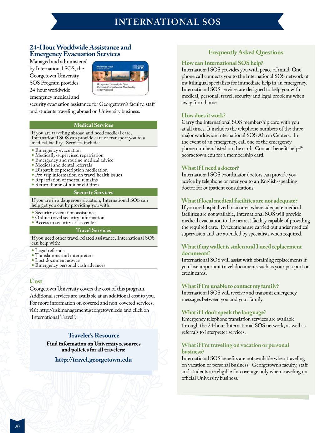 Georgetown 2017 International Benefits Guide