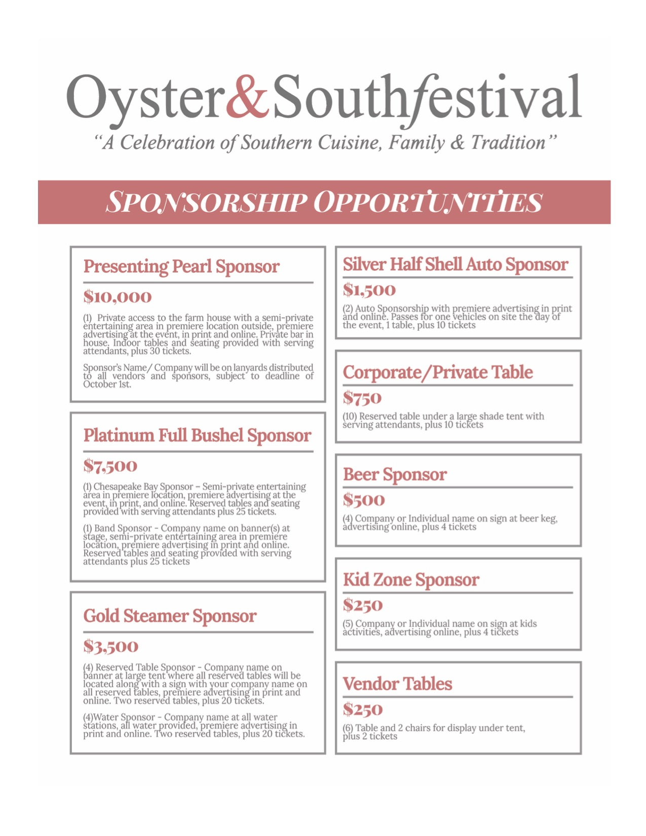 CoVaTIX | The 7th annual Oyster&Southfestival ~November 17